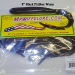 "Smoke Black Plubber Worm 8"" Plubber Worm Bass Fishing"