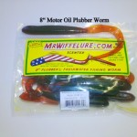 "8"" Plubber Worm Motor Oil Bass Fishing"