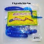 "Sapphire Blue 8"" Plubber Worm Bass Fishing"