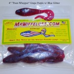 "4"" Poon Whopper Grape Purple Purple Soft Plastic Baits"