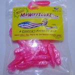 Micro Hot Fire Pink soft plastic fishing baits