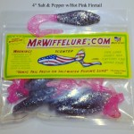 alt & Pepper with Pink Firetail soft plastic fishing baits