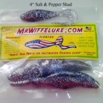 Salt & Pepper Shad Body Soft Plastic Baits 4""