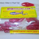 strawberry-glitter-pearl-tail-soft-plastic-baits
