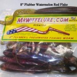 Watermelon Red Flake Soft Plastic Fishing Worm Plubber