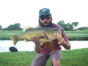9 lb. Bass caught with June Bug Plubber Worm by MrWiffelure